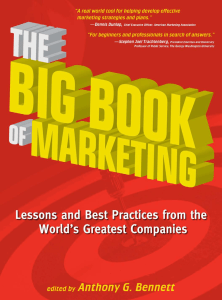 The Big Book of Marketing: Lessons and Best Practices from th