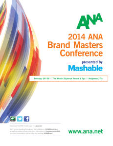 Brand Masters Conference - Association of National Advertisers