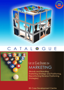 Case Studies on Marketing - Case Catalogue