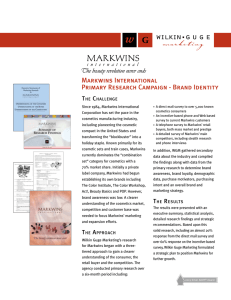 Markwins International Primary Research