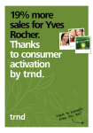 19% more sales for Yves Rocher. Thanks to consumer