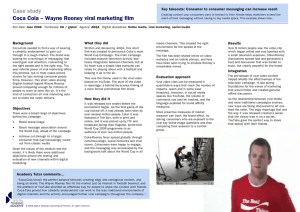 Case study Coca Cola – Wayne Rooney viral marketing film