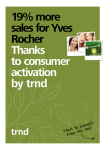 19% more sales for Yves Rocher Thanks to consumer