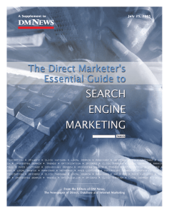 The Direct Marketer`s Essential Guide to Search Engine Marketing
