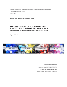 success factors of place marketing: a study of place