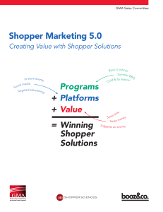 Shopper Marketing 5.0 - Grocery Manufacturers Association