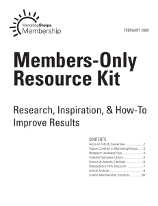Members-Only Resource Kit
