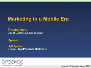 Mobile Marketing! - Direct Gardening Association
