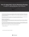 How To Apply Nike`s Secret Marketing Strategy