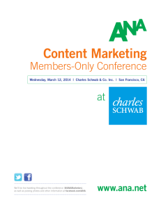 Content Marketing - Association of National Advertisers