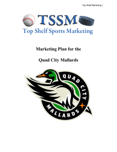 Quad City Mallards Marketing Plan