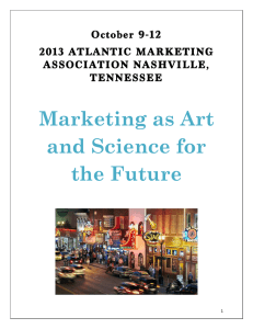 Conference Program  - Atlantic Marketing Association