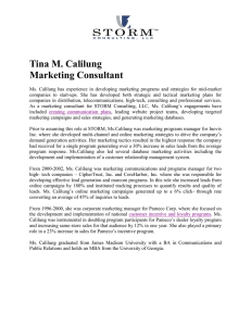 Tina M. Calilung Marketing Consultant