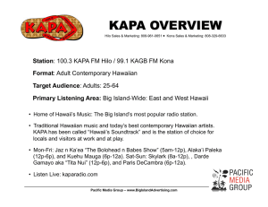 kapa overview - Pacific Media Group