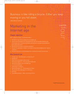 Marketing in the Internet age - E-Book