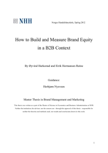How to Build and Measure Brand Equity in a B2B Context