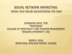 SOCIAL NETWORK MARKETING:
