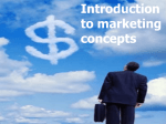 Problem Solving Introduction to marketing concepts
