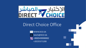 Microsoft Dynamics AX - Direct Choice Office
