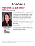 PROMOTION ANNOUNCEMENT - MGM Resorts International