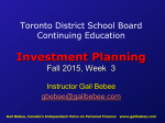 Toronto District School Board Continuing Education Investment