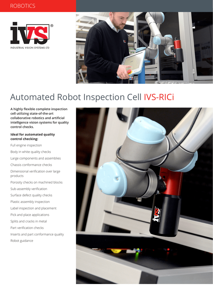 Robot Inspection Cell - Vision System and Robotics