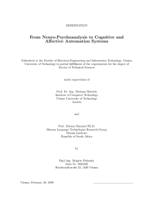 From Neuro-Psychoanalysis to Cognitive and Affective Automation Systems