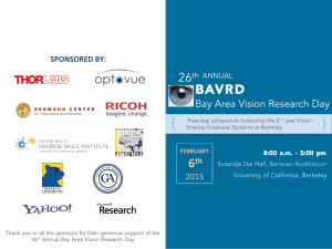 BAVRD2015-Short Program - Vision Science at UC Berkeley
