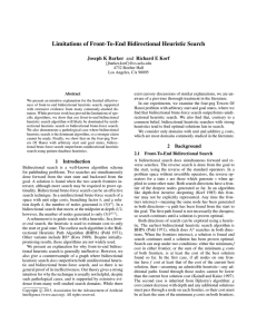 Limitations of Front-To-End Bidirectional Heuristic Search