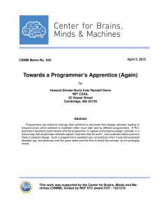 Towards a Programmer`s Apprentice (Again)