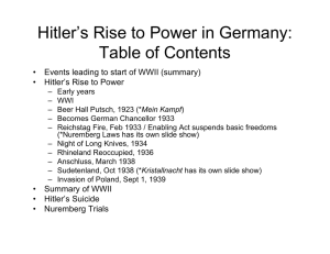 3 Rise of Hitler Powerpoint