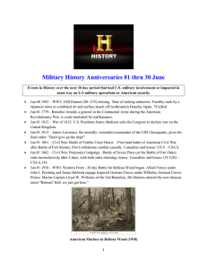 Military History Anniversaries 01 thru 30 June