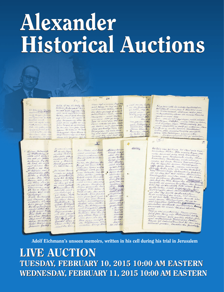 Alexander Historical Auctions Alexander Historical Auctions