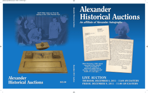 World War II: Autographs - Alexander Historical Auctions