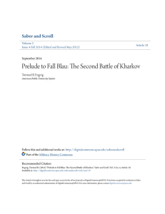 The Second Battle of Kharkov - DigitalCommons@APUS