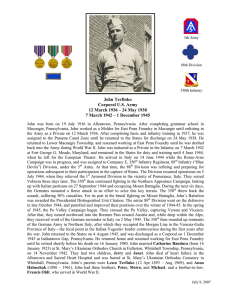 John Terfinko Corporal U.S. Army 12 March 1936 – 24 May 1938 7