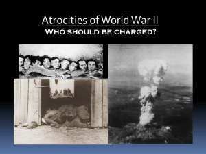 Atrocities of World War II Japanese?