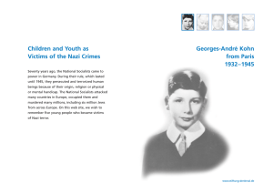 Children and Youth as Georges-André Kohn Victims of the Nazi Crimes from Paris