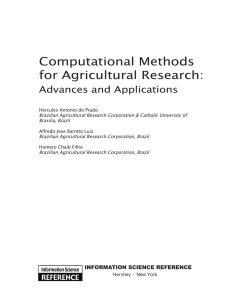 Computational Methods for Agricultural Research - wiki DPI