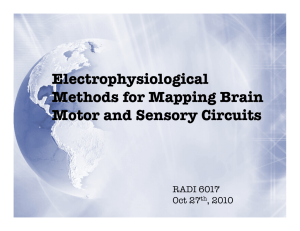 Electrophysiological Methods for Mapping Brain Motor and Sensory