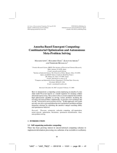 Amoeba-Based Emergent Computing: Combinatorial Optimization