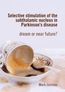 Selective stimulation of the subthalamic nucleus in Parkinson`s