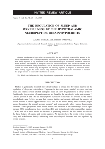 THE REGULATION OF SLEEP AND WAKEFULNESS BY THE