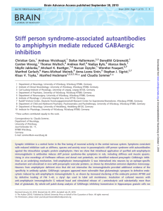 Stiff person syndrome-associated autoantibodies to amphiphysin