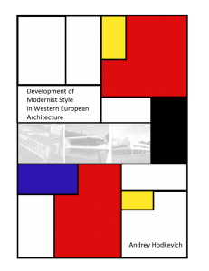 Development of Modernist Style in Western European