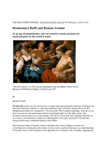 Renaissance Ruffs and Roman Aromas