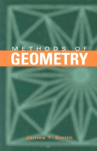 Methods of Geometry