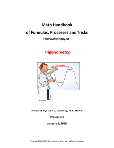 Math Handbook of Formulas, Processes and Tricks Trigonometry