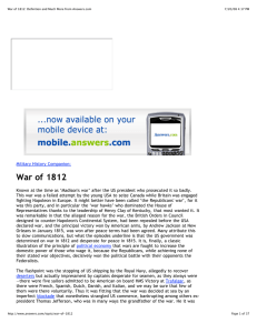 War of 1812: Definition and Much More from Answers.com