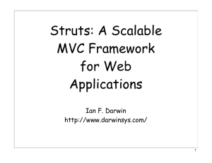 Struts: A Scalable MVC Framework for Web Applications